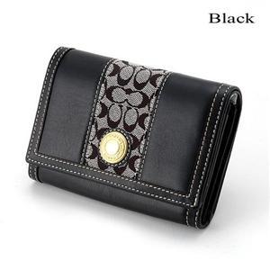 COACH 財布 40457 ブラック - 拡大画像