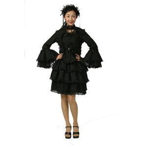 フォーラスドレス(チュールメイド)黒/黒 M