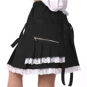 ロリータスカート 黒/ポリ白 F - 拡大画像