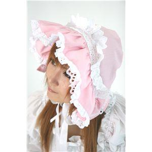 ロリータ帽子 ピンク - 拡大画像