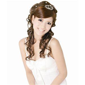 結婚式の髪型/cinema 姫アップハーフウィッグ