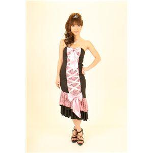 ナイトドレス レースアップ ピンク/黒
