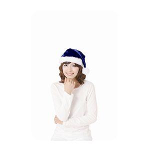 サンタ帽子 ブルー 4個セット
