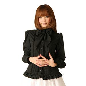【コスプレ】 ロリータ風コスプレ Cream doll ブラウス リボンタイ(ブラック) 4560320825463 - 拡大画像