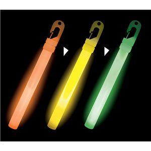 【コスプレ】 ルミカライト ライトスティック 6インチ<カラーチェンジOYG> 発光体12本入 4967574350800 - 拡大画像