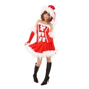 【クリスマスコスプレ】フェザースリーリボンドレス Ladies 4560320827504 - 拡大画像
