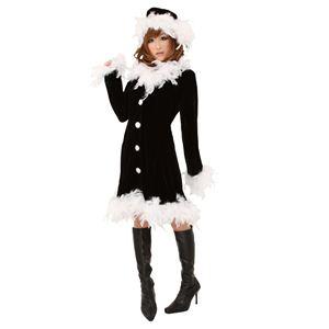 クリスマスコスプレ フェザーブラックドレス Ladies - 拡大画像