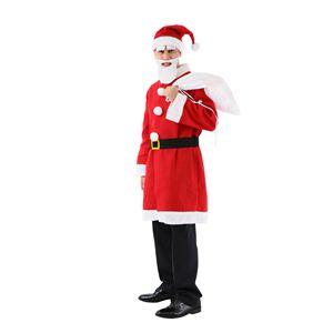 【コスプレ】 クリスマスコスプレ ロングサンタさんセット Men's - 拡大画像