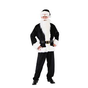 クリスマスコスプレ GOGOサンタさん(ブラック) Men's - 拡大画像