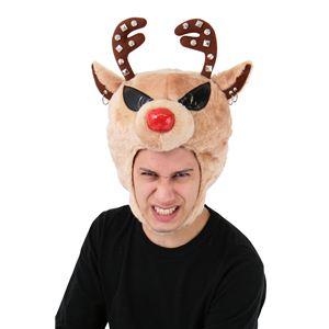 【クリスマスコスプレ】ROCKトナカイヘッド(ブラウン) 4560320827870 - 拡大画像