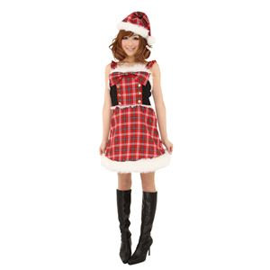 【コスプレ】 クリスマスコスプレ チェックリボンサンタ Ladies