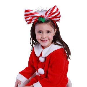 【コスプレ】 クリスマスコスプレ キャンディーリボンカチューシャ 【3セット】 - 拡大画像