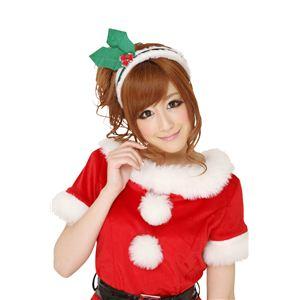 【コスプレ】 クリスマスコスプレ ヒイラギカチューシャ UNISEX 【3セット】 - 拡大画像