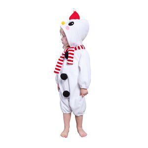 クリスマスコスプレ 雪ダルマカバーオール 子供80 - 拡大画像