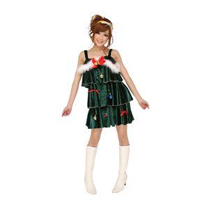 クリスマスコスプレ ホーリーツリードレス 緑 Ladies - 拡大画像