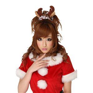 【コスプレ】 クリスマスコスプレ シュシュ トナカイ 茶 【3セット】 - 拡大画像