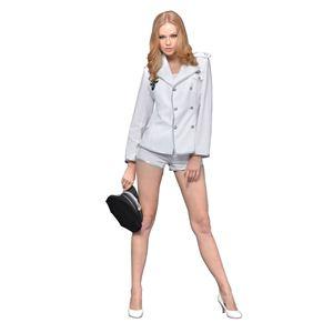 New York Wish(ニューヨークウィッシュ) コスプレ ダブルボタンジャケットホワイト Mサイズ NYW_1601-00 - 拡大画像
