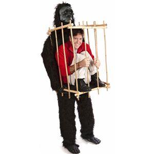 【ハロウィンコスプレ】 「Get Me Outta This Cage!」 gorilla & cage costume kit(「檻から出して!」巨大ゴリラに囚われたあなた) 895104002124 - 拡大画像