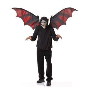【ハロウィンコスプレ】 Vampire Mask and Wings(吸血鬼のマスクと可変式ウィング) 019519047888 - 拡大画像