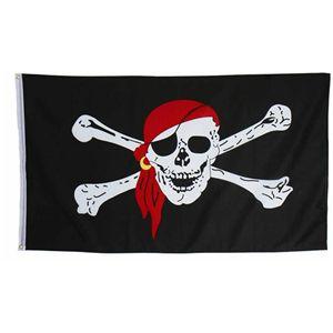 【コスプレ】 【ハロウィン】 Polyester Pirate Flag(海賊の旗) 4560320843535 - 拡大画像