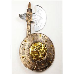 【コスプレ】 【ハロウィン】 42cm Warrior Axe With Oval Shield(斧と円形盾セット) 4560320843542 - 拡大画像