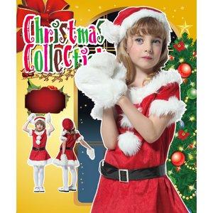 【クリスマスコスプレ】キッズキャンディサンタ 140 4560320844372 (子供用) - 拡大画像