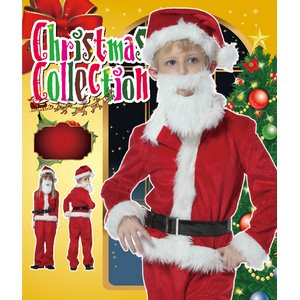 【クリスマスコスプレ 衣装】キッズサンタクロースセット 140 4560320844334 (子供用) - 拡大画像