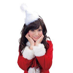 【クリスマスコスプレ】サンタカチューシャ 白 4571142461333 - 拡大画像