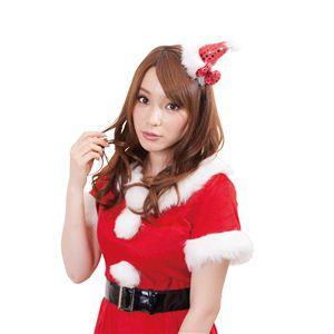 【クリスマスコスプレ】リボンサンタピン レッド 4560320844389 - 拡大画像