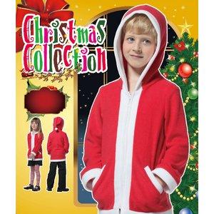 【クリスマスコスプレ】キッズサンタパーカー 4560320844204 - 拡大画像