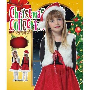 【クリスマスコスプレ】キッズサンタベストセット 4560320844273 - 拡大画像