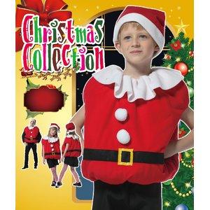 【クリスマスコスプレ】キッズモコモコサンタ 4560320844303 - 拡大画像