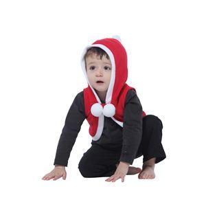 【クリスマスコスプレ】サンタベスト baby 4560320844242 - 拡大画像