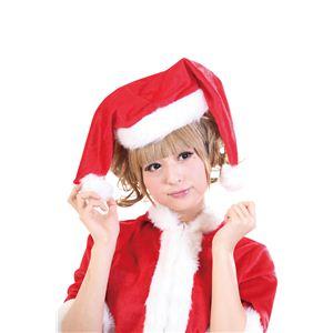 【クリスマスコスプレ】ダブルサンタ帽 4560320844457 - 拡大画像