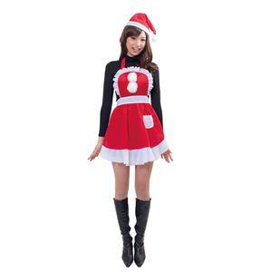 【クリスマスコスプレ】フリルクリスマスエプロン - 拡大画像