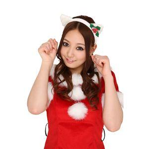 【クリスマスコスプレ】ホワイトキャットカチューシャ 4571142461302 - 拡大画像