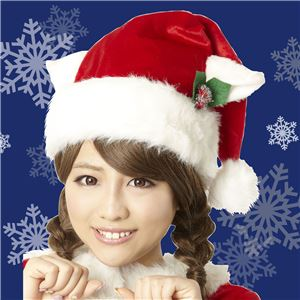 【クリスマスコスプレ】ホワイトキャットサンタ帽 4571142469582 - 拡大画像