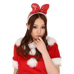 【クリスマスコスプレ】ラブリーリボンカチューシャ(レッド) 4560320827832 - 拡大画像