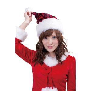 【クリスマスコスプレ】レッドレオパードサンタ帽 4560320844433 - 拡大画像