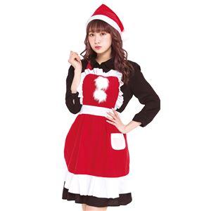 【クリスマスコスプレ 衣装】フリルクリスマスエプロン Ladies - 拡大画像