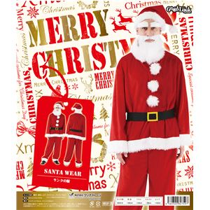【クリスマスコスプレ】サンタの服 Men's - 拡大画像