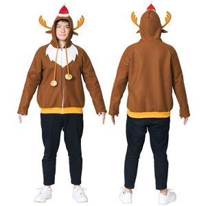 【クリスマスコスプレ 衣装】トナカイパーカー Men's
