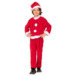 【クリスマスコスプレ 衣装】キッズサンタスーツ 120 (子供用) - 拡大画像