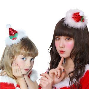 【クリスマスコスプレ】キラキラサンタ帽ヘアピン - 拡大画像