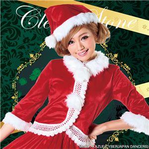 【クリスマスコスプレ】ニットレースジャケットサンタ Ladies - 拡大画像
