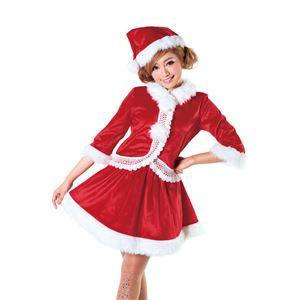 【クリスマスコスプレ】ニットレースジャケットサンタ Ladiesの写真3