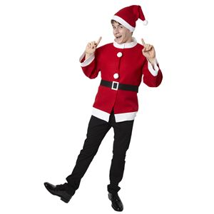 クリスマスコスプレ/衣装 【シンプルサンタジャケット】 ユニセックス180cm迄 ポリエステル 〔イベント パーティー〕