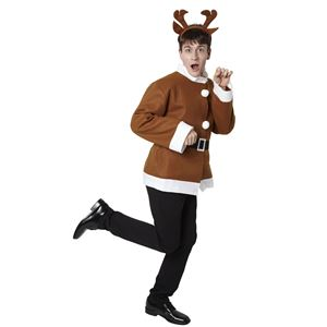【クリスマスコスプレ】シンプルトナカイジャケットの写真3
