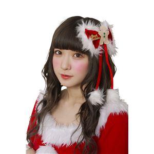 【クリスマスコスプレ】ジンジャーリボンピン - 拡大画像