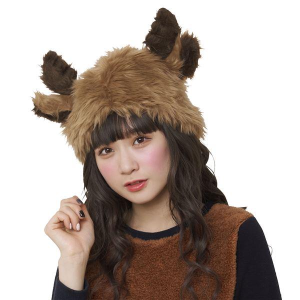 【クリスマスコスプレ 衣装】ふわっとトナカイハットf00